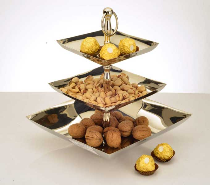 Square cookie stand 3 tier