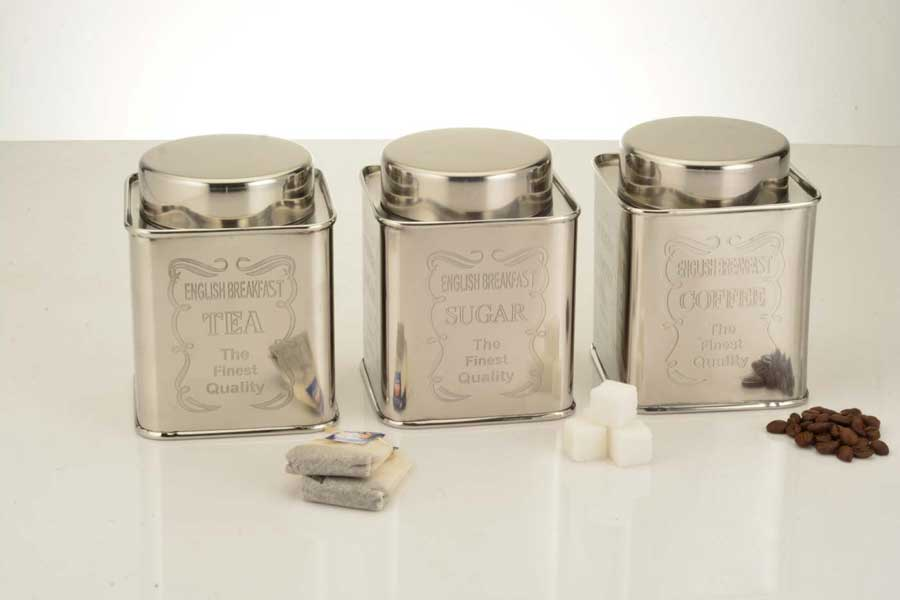Canister set engraving