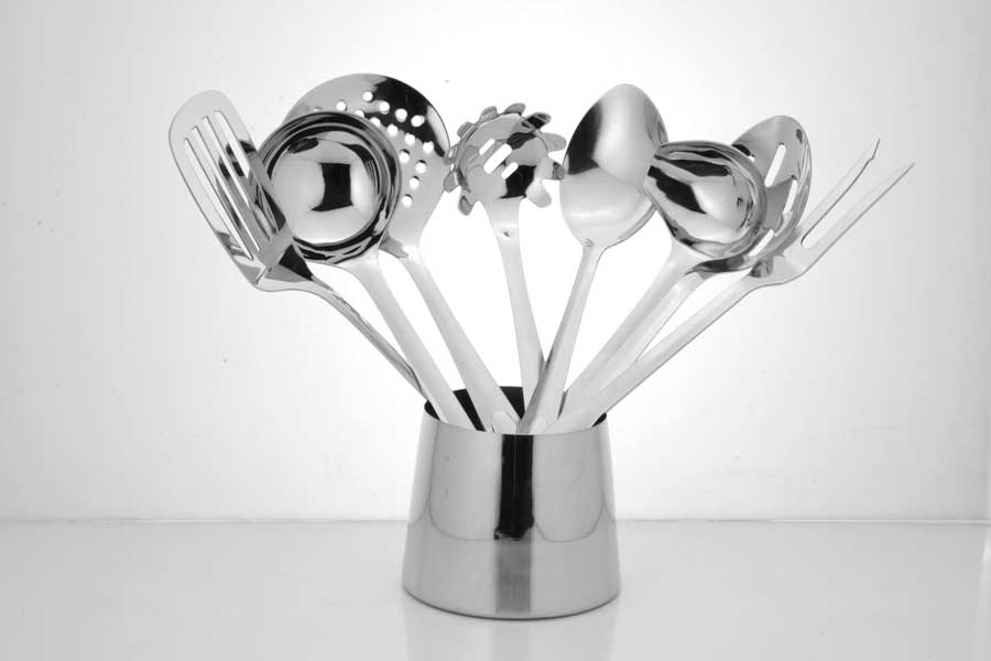 Kitchen tools set with stand