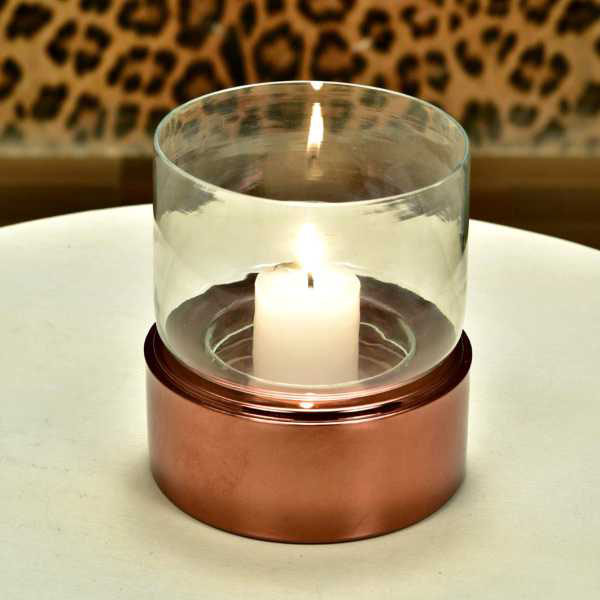 Straight Candle Holder With Glass