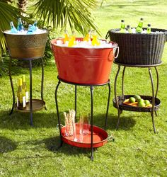 Outdoor beverages tub