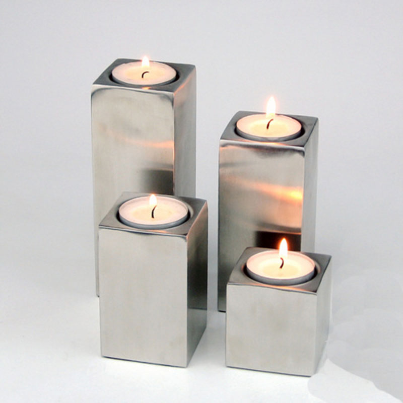 Tower square candle holder