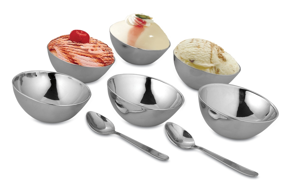 Oval shape dessert serving set