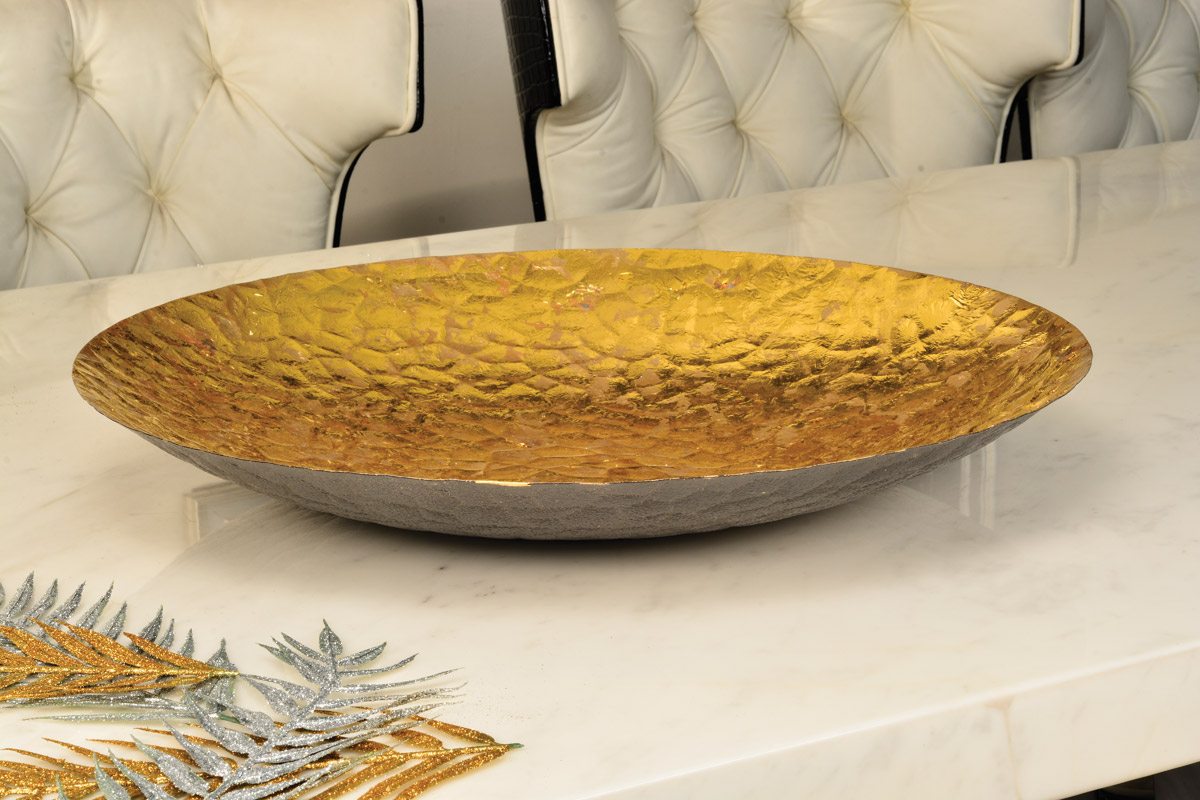 Decorative foil tray Gold leafing