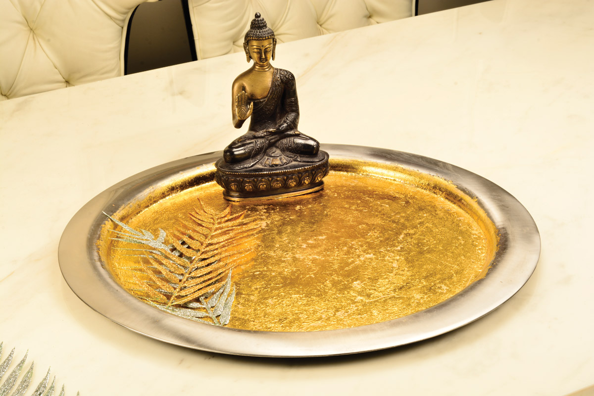 Serving tray Gold leafing