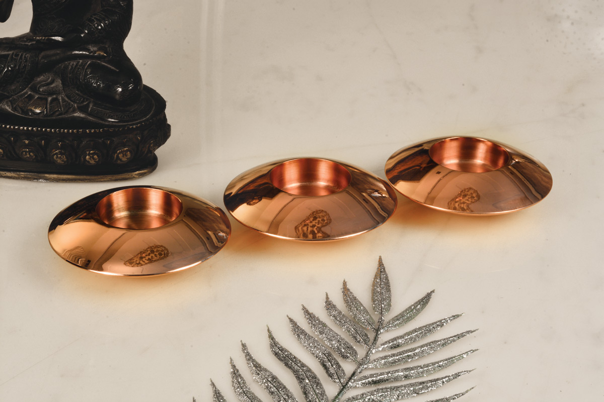 Sparkle tealight candle holder Copper