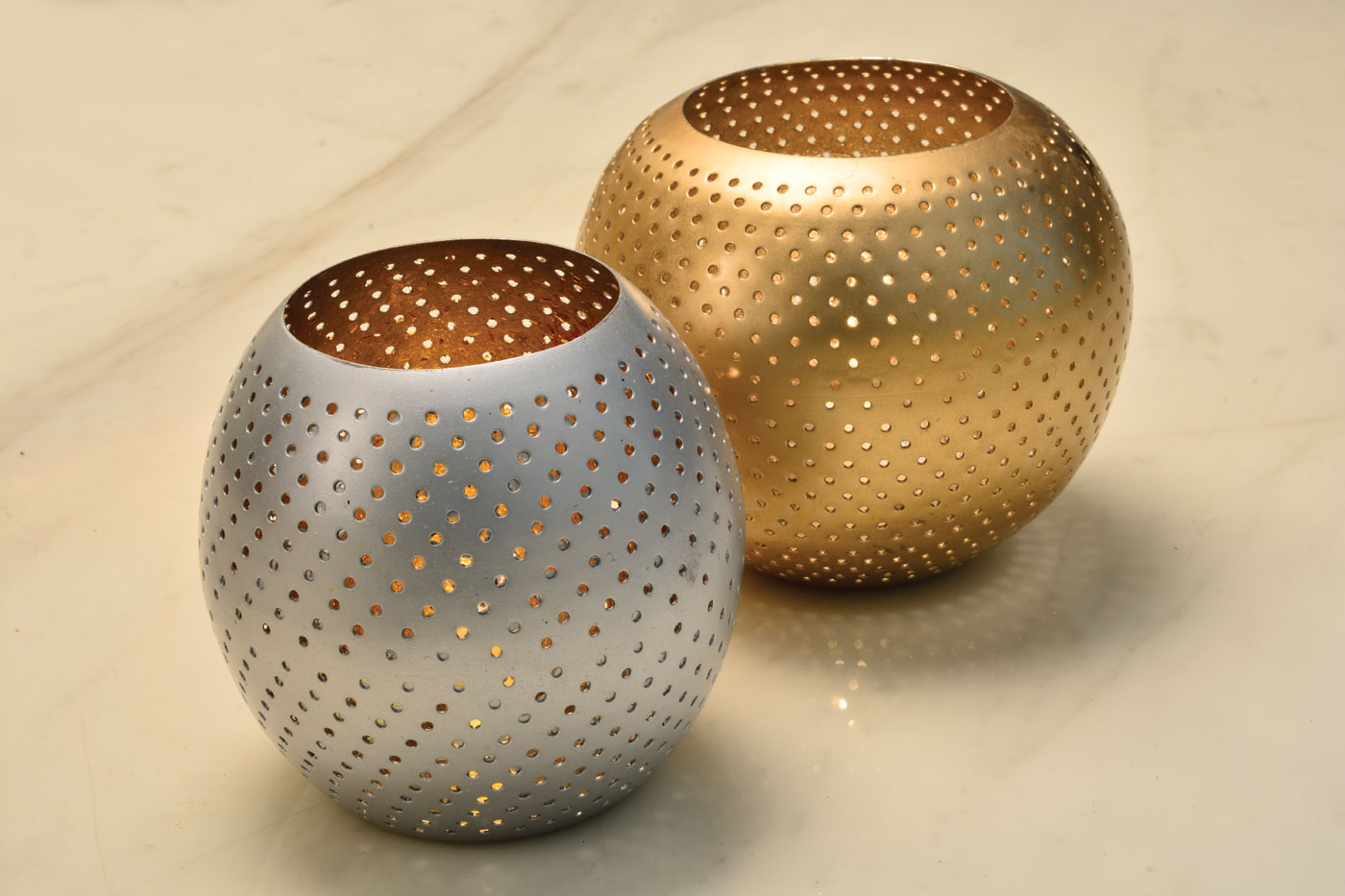 Round candle holder Gold & Silver