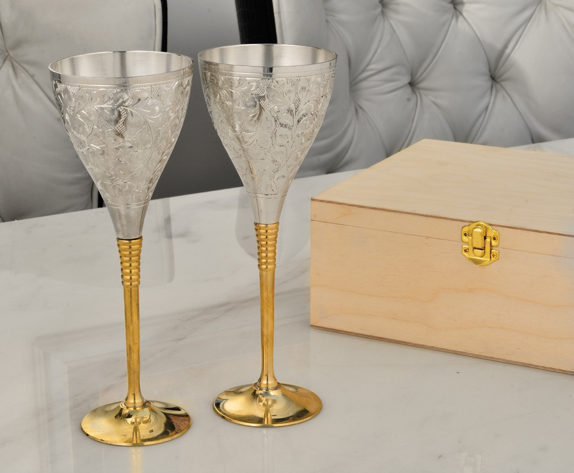 Handcrafted champagne glass