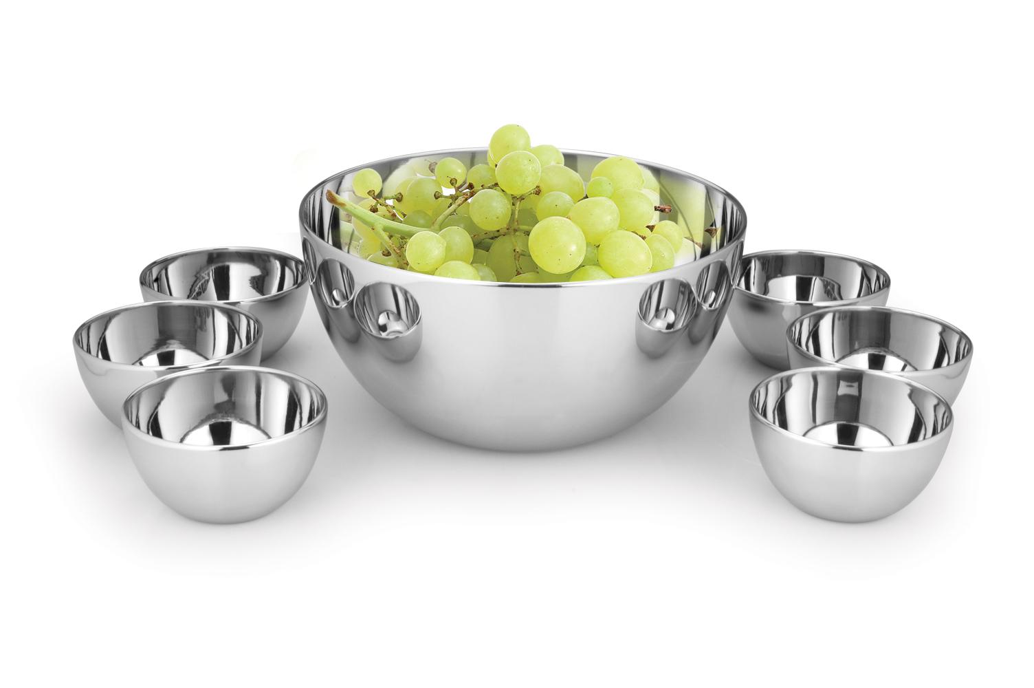 Round serving bowl 7 pcs