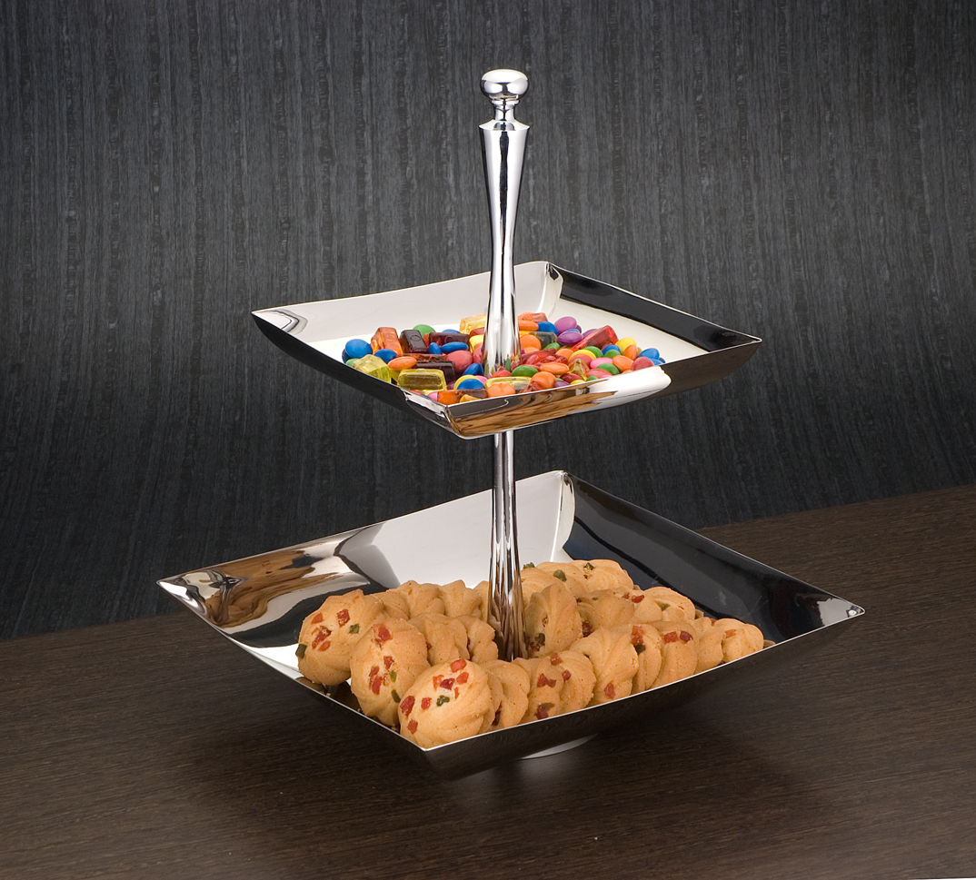 Square cookie stand 2 tier