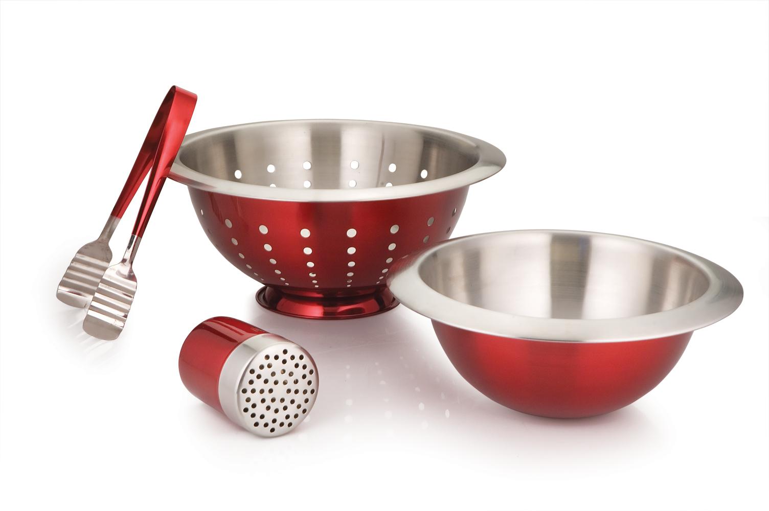 Pasta set of 4Pcs Red