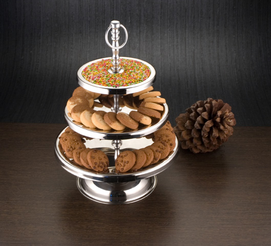 Round cookie stand 3 tier