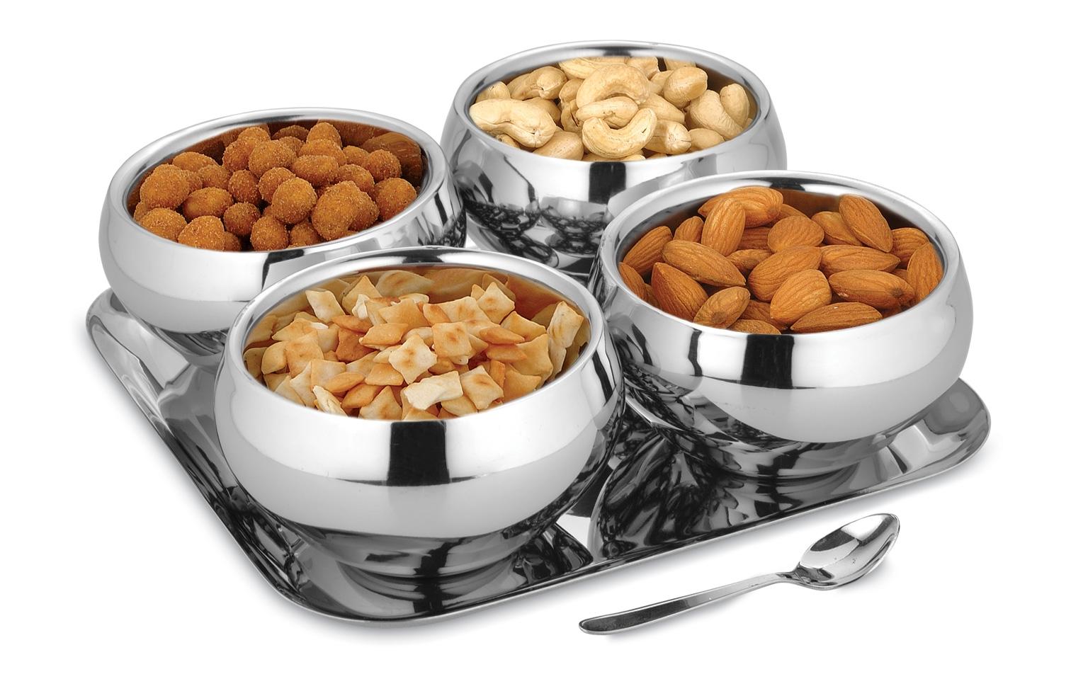 Round snack serving set