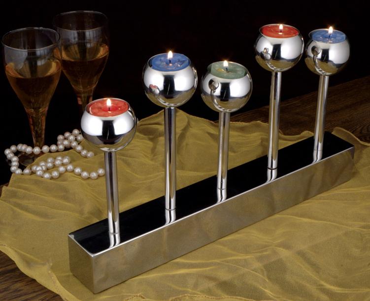 Trophy tealight candle holder 5 pillars