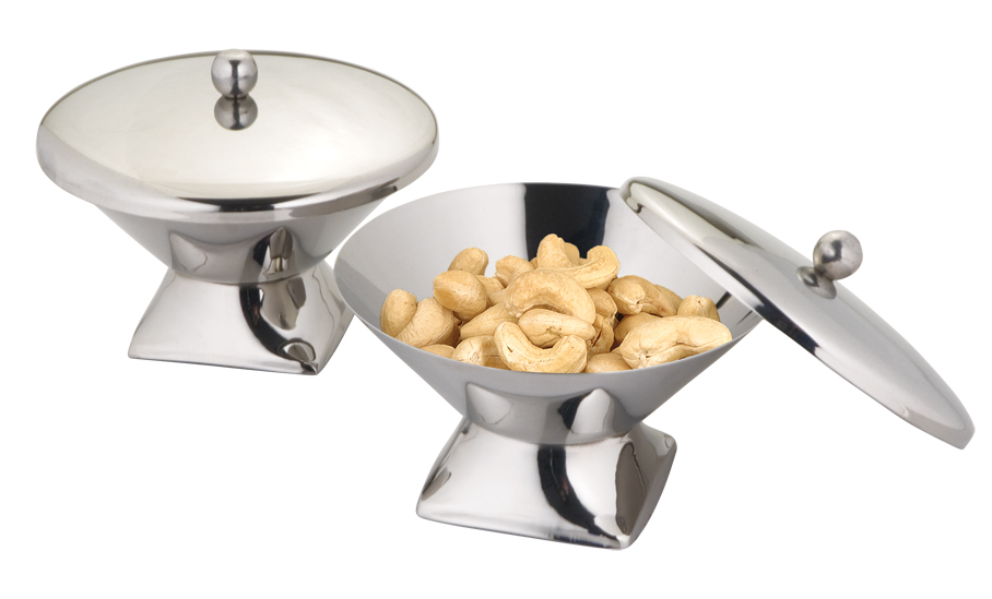 Snack serving bowls with lid