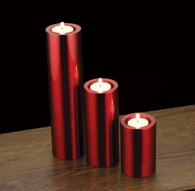 Round tower candle Red