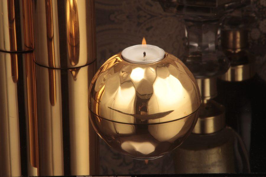 Mushroom candle holder Gold