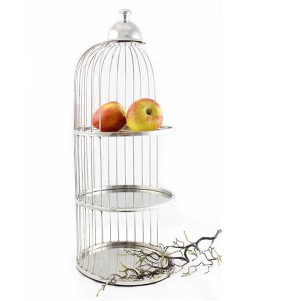 Three Tier Cage Pastry Stand